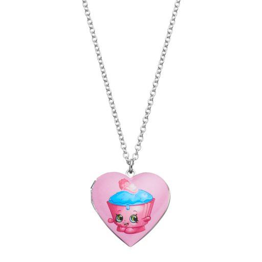 Shopkins Kids' Cupcake Chic Heart Locket Necklace