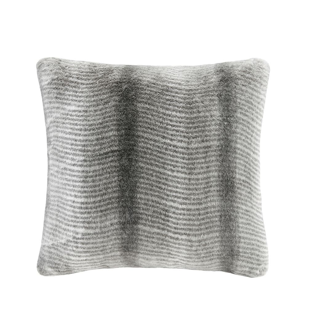 Madison Park Signature Serengeti Luxury Faux Fur Throw Pillow