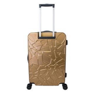 Chariot Travelware Crystal Black 3-Piece Hardside Spinner Luggage Set