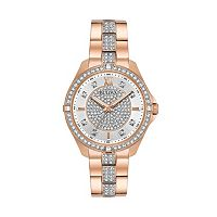 Bulova Women's Crystal Stainless Steel Watch
