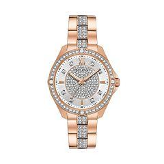 Bulova Women's Crystal Stainless Steel Watch