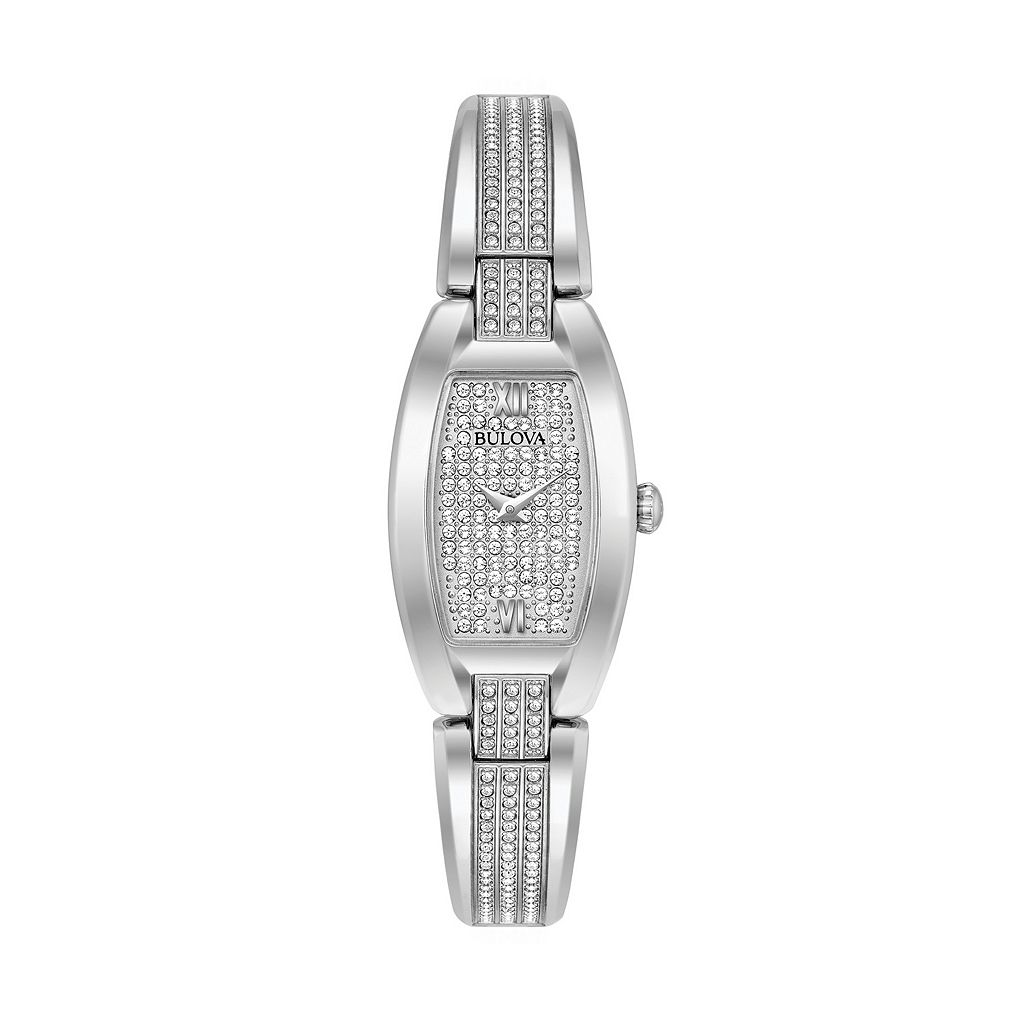 Bulova Women's Crystal Stainless Steel Bangle Watch - 96L235