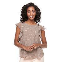 Women's Apt. 9® Ruffle Chiffon Top