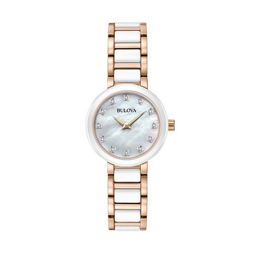 Bulova Women's Diamond Stainless Steel & Ceramic Watch - 98P160