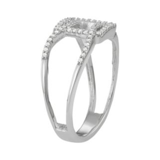 Sterling Silver 1/5 Carat T.W. Diamond Geometric Ring