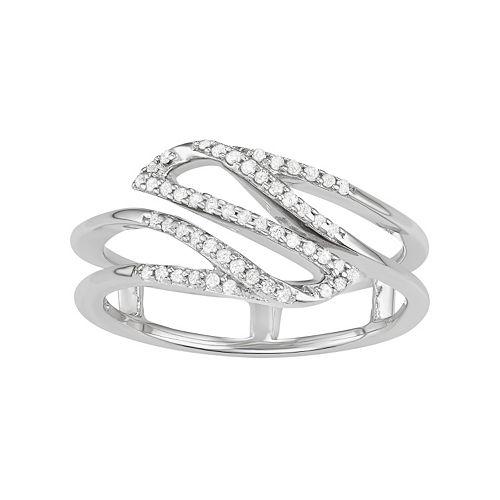Sterling Silver 1/6 Carat T.W. Diamond Swirl Ring