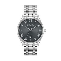 Bulova Men's Classic Stainless Steel Watch - 96B261