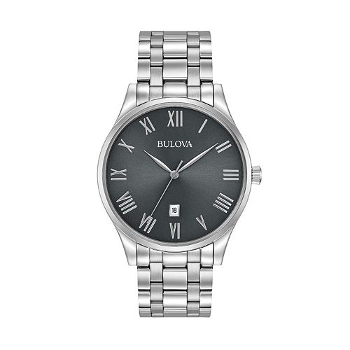 Bulova Men's Classic Stainless Steel Watch - 96B261