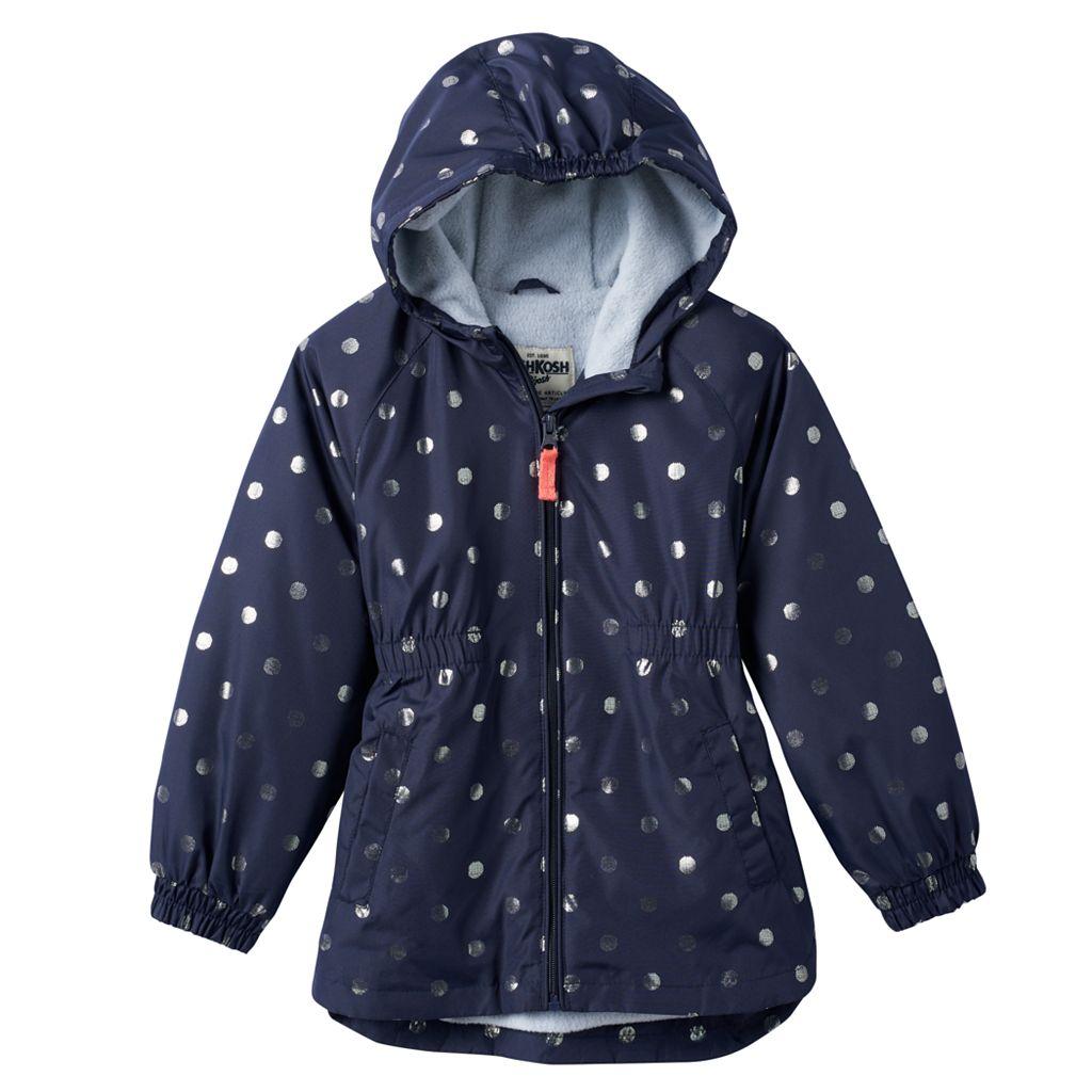 Girls 4-6x OshKosh B'gosh® Fleece-Lined Dot Midweight Jacket