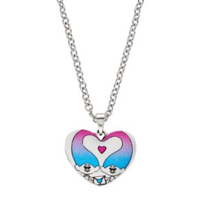 DreamWorks Trolls Kids' Stainless Steel Heart Pendant Necklace