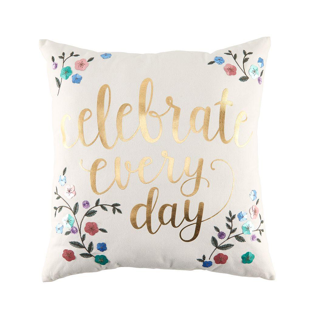 LC Lauren Conrad Celebrate Throw Pillow