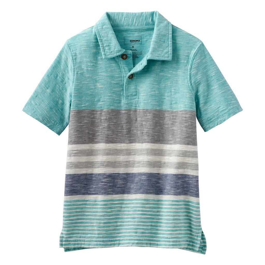 Boys 4-7x SONOMA Goods for Life™ Slubbed Striped Polo
