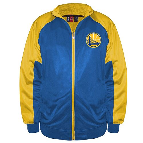 Big & Tall Majestic Golden State Warriors Back Track Tricot Jacket