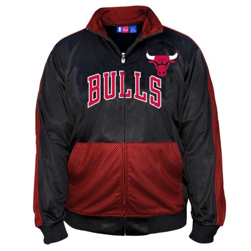 Big & Tall Majestic Chicago Bulls Panel Tricot Track Jacket
