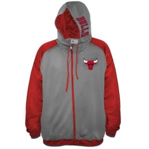 Big & Tall Majestic Chicago Bulls Fleece Full-Zip Hoodie