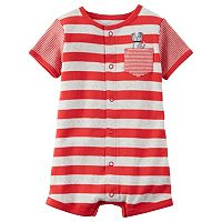 Baby Boy Carter's Striped Applique Romper