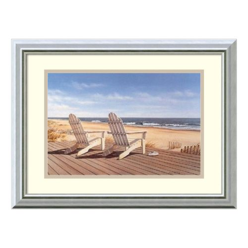 Amanti Art Point East Print Framed Wall Art