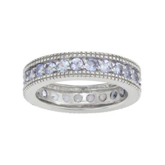 Sterling Silver Tanzanite Eternity Ring