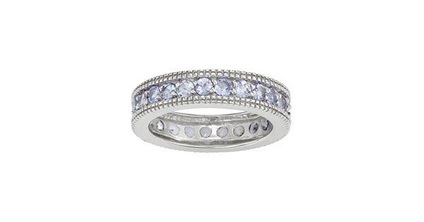 Sterling silver tanzanite eternity ring for Kohls fine jewelry coupon