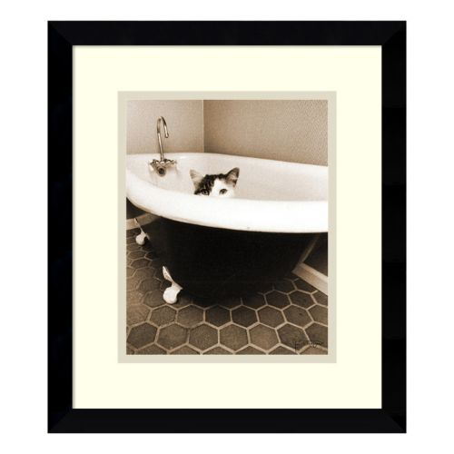Amanti Art Kitty III Print Framed Wall Art
