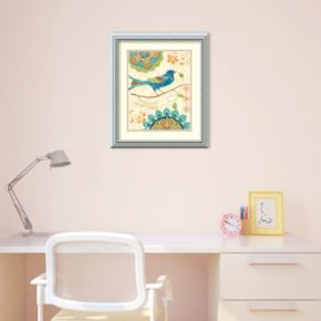 Amanti Art Eastern Tales Birds I Print Framed Wall Art
