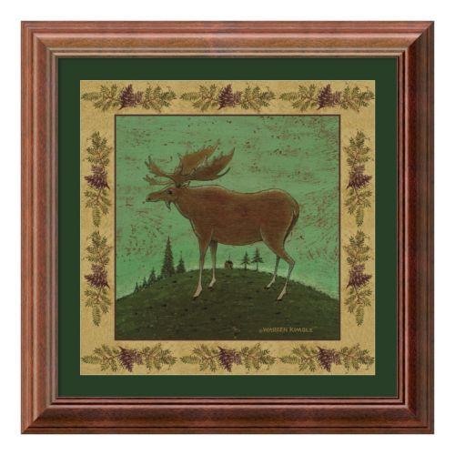 Amanti Art Folk Moose Print Framed Wall Art