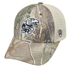Adult Top of the World Kansas Jayhawks Prey Camo Adjustable Cap
