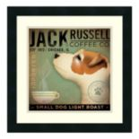 "Amanti Art ""Jack Russell Coffee Co."" Print Framed Wall Art"