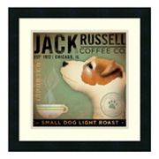 Amanti Art 'Jack Russell Coffee Co.' Print Framed Wall Art