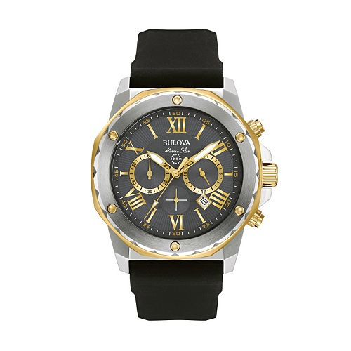 Bulova men 39 s marine star chronograph watch 98b277 for Watches kohls
