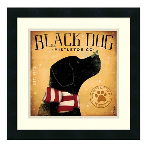 "Amanti Art ""Black Dog Mistletoe Co."" Print Framed Wall Art"