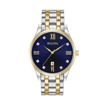 Bulova Men's Classic Diamond Two Tone Stainless Steel Watch - 98D130