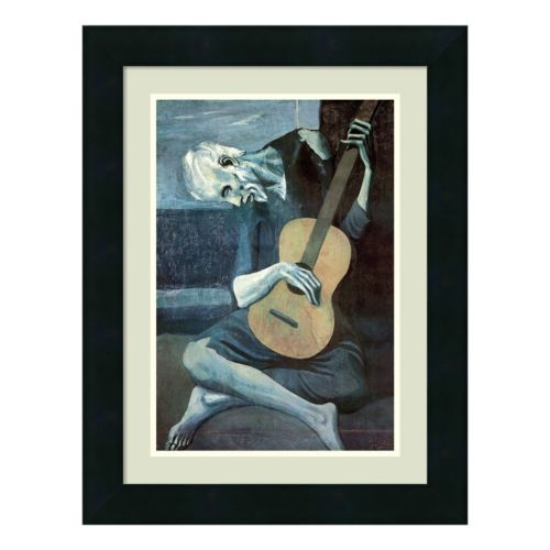 Amanti Art The Old Guitarist, 1903 Print Framed Wall Art by Pablo Picasso