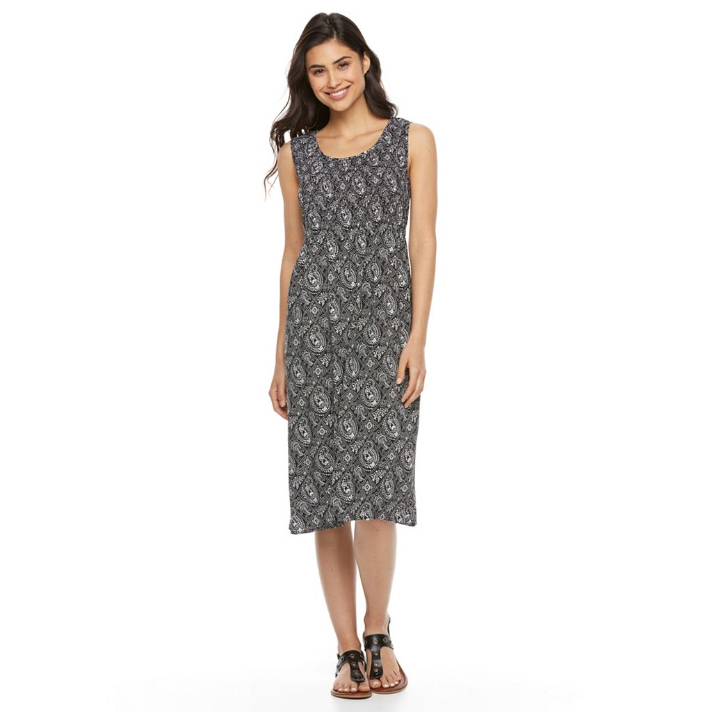 Women's Croft & Barrow® Smocked Challis Dress