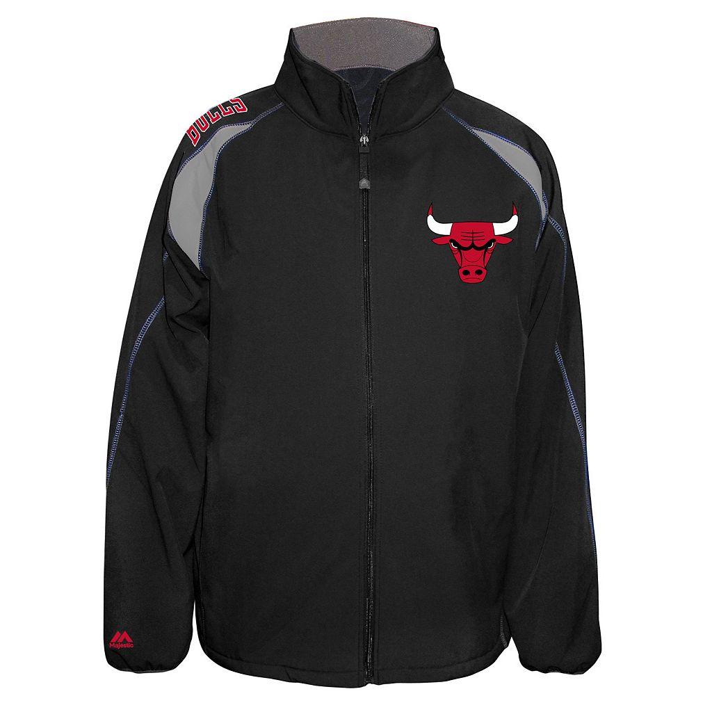 Big & Tall Majestic Chicago Bulls Bonded Softshell Jacket