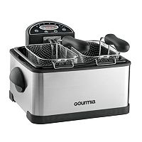 Gourmia Tri-Basket Digital Deep Fryer