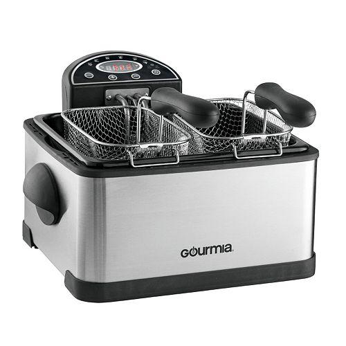 Gourmia Tri-Basket Digital Deep Fryer