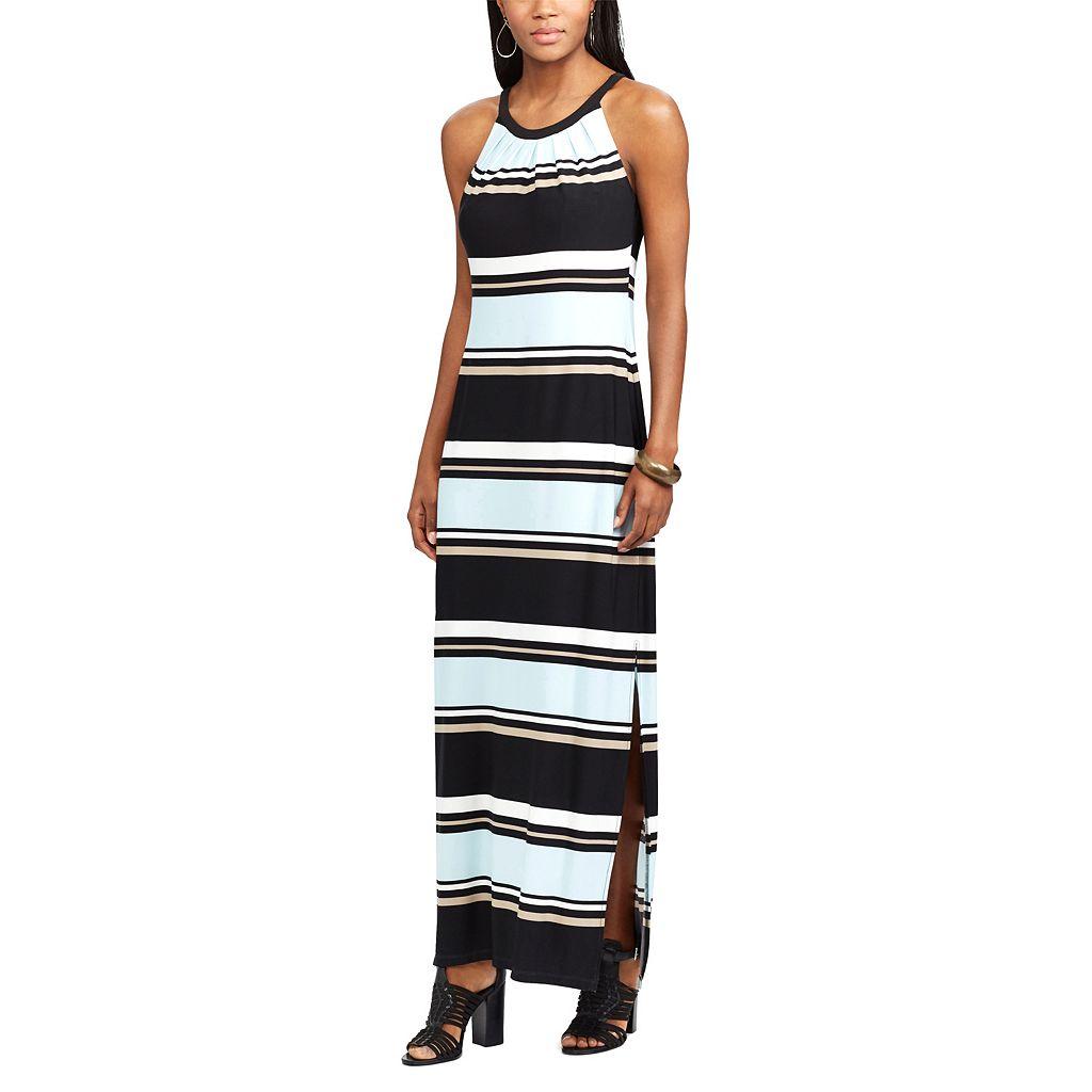 Petite Chaps Striped Maxi Dress