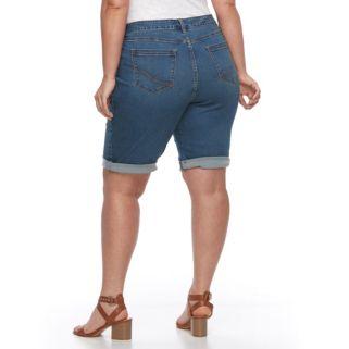 Plus Size Croft & Barrow® Bermuda Jean Shorts
