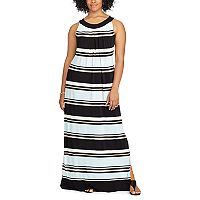 Plus Size Chaps Striped Jersey Maxi Dress