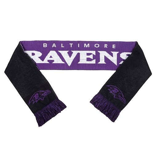 Adult Forever Collectibles Baltimore Ravens Reversible Scarf