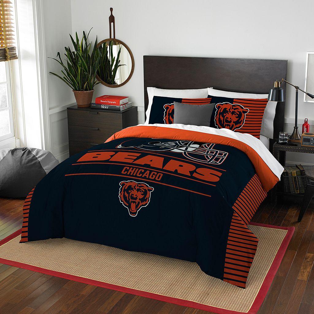 Chicago Bears Draft Full/Queen Comforter Set by Northwest