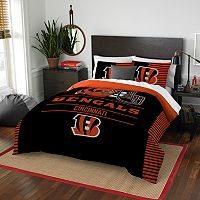 Cincinnati Bengals Draft Full/Queen Comforter Set by Northwest