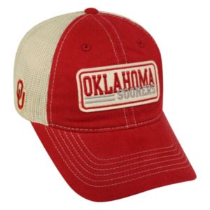 Adult Top of the World Oklahoma Sooners Patches Adjustable Cap