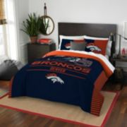 Denver Broncos Draft Full/Queen Comforter Set by Northwest