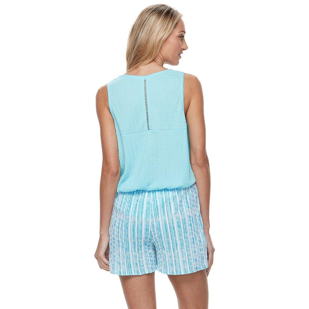Women's Croft & Barrow® Pajamas: Gauze Tank & Shorts PJ Set