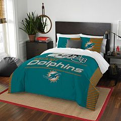 Miami Dolphins Draft Full/Queen Comforter Set by Northwest