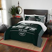New York Jets Draft Full/Queen Comforter Set by Northwest