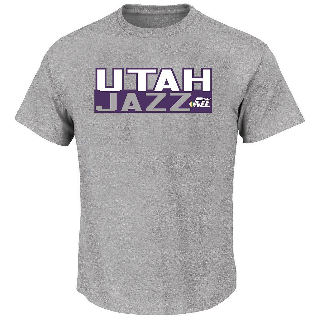 Big & Tall Majestic Utah Jazz Karl Malone Tee