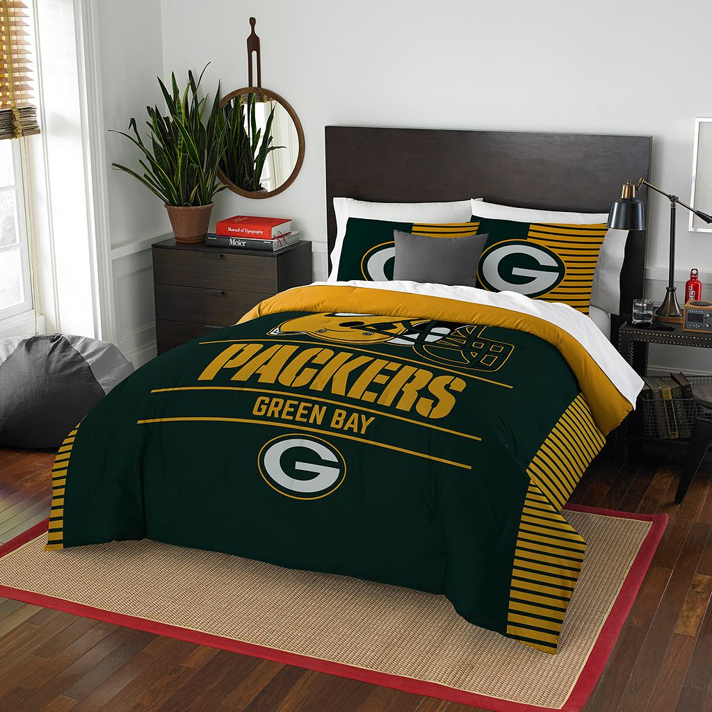 Green Bay Packers Draft Full/Queen Comforter Set by Northwest
